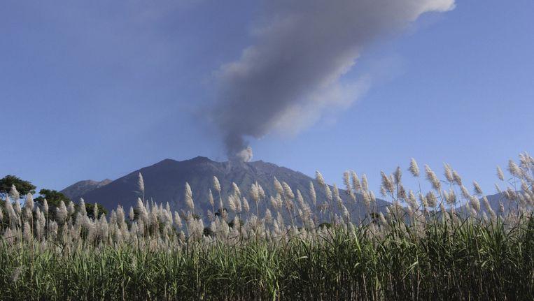 Mount Raung enkele dagen geleden.