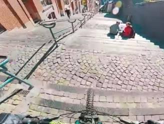 Fietser (13) valt tijdens 'downhill' op langste trap van het land