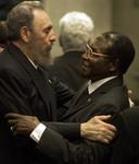 Met de Cubaanse leider Fidel Castro in 2000.