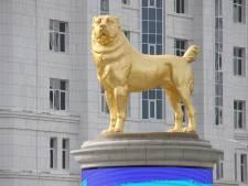Au Turkménistan, le président fait ériger une statue en or de son chien préféré