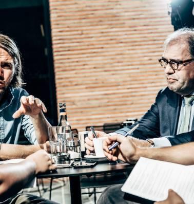 """Burgemeester Christoph D'Haese in debat met uitdager Jean-Jacques De Gucht: """"Drugsgebruik bestrijden is dé grote uitdaging in Aalst"""""""