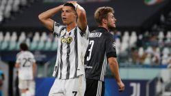 Juventus ondanks twee doelpunten van Ronaldo niet naar kwartfinales, Lyon stoot door