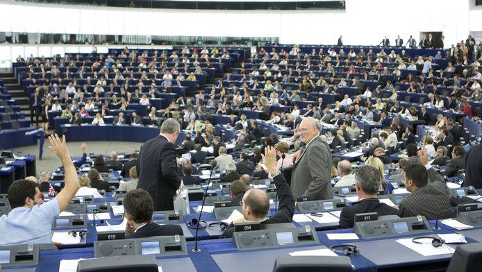 Het Louise Weissgebouw is de zetel van het Europees Parlement in Straatsburg