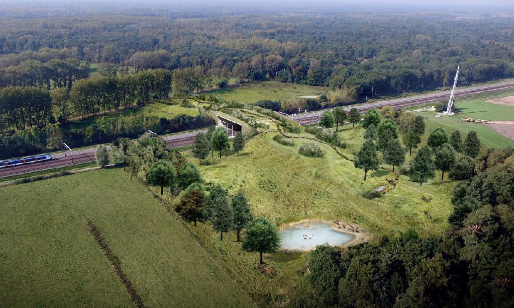 Het eindplaatje van de natuurbrug De Mortelen.