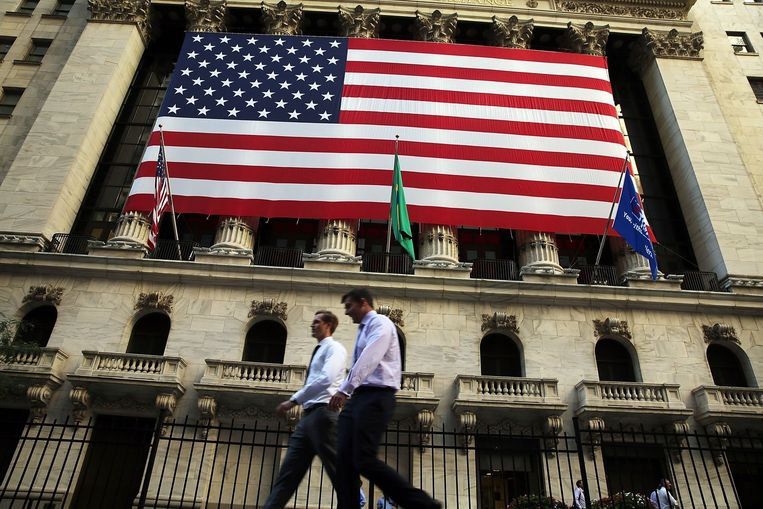 Exterieur van de New York Stock Exchange. Beeld afp