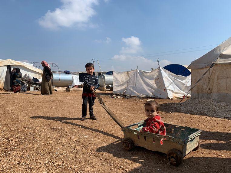 Kamp Sarmada, Noord-Idlib, maart 2020.  Beeld Melvyn Ingleby