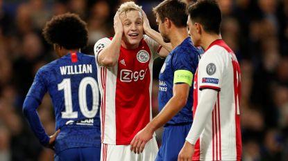8 goals, 2 rode kaarten en 2 afgekeurde treffers: Ajax en Chelsea spelen gelijk na knotsgekke partij