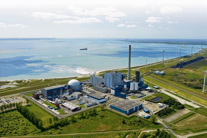 De kerncentrale van Borssele, Zeeland.