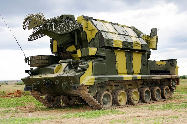 Het luchtdoelsysteem Tor-M1 waarmee de Oekraiense Boeing zou zijn neergehaald. Beeld AP