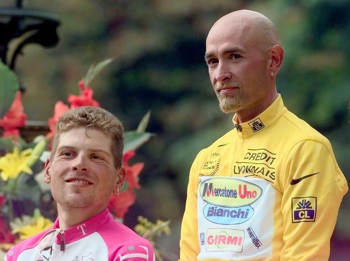 Jan Ullrich en Marco Pantani in 1998.