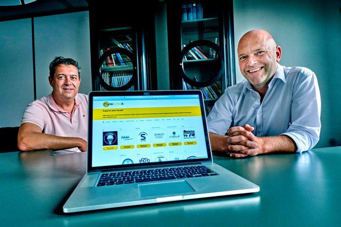 Mark Stoopman (links), samen met zakenpartner Ernest Robert.