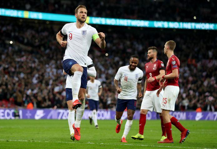 Harry Kane, de captain van het Engelse team.