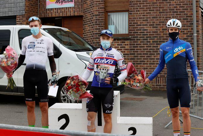 Tristan Scherpenbergh won de eerste Memorial Bjorg Lambrecht voor Joris Koon en Alex Colman.