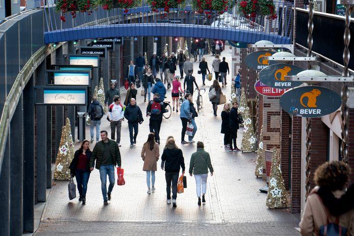 Drukte in het centrum van Nijmegen.