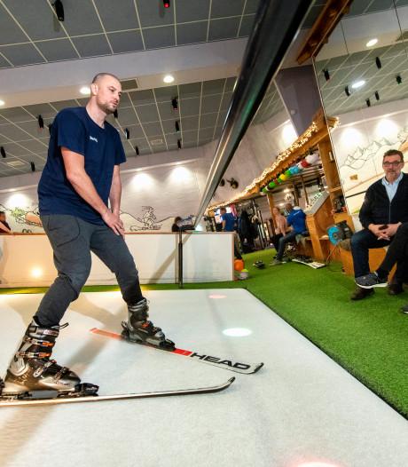 Vlak voor wintersport nog even oefenen, de Arnhemse skischool puilt vandaag uit