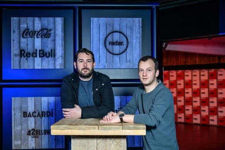 Tijs Vandenbroucke en Quincy Steveninck van Radar organiseren op vrijdag 21 februari voor de eerste keer een afterworkparty in de evenementenlocatie.