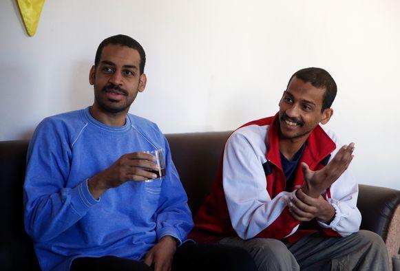 Alexanda Amon Kotey (links) en El Shafee Elsheikh (rechts) zouden deel uitgemaakt hebben van de IS-cel 'The Beatles', die onder leiding van Jihadi John gruwelijke onthoofdingen uitvoerde.