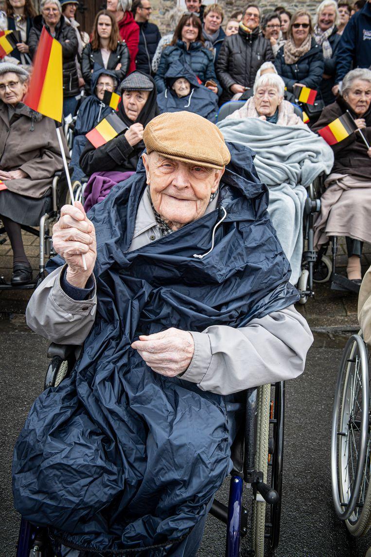 Oud-strijder en honderdjarige Pittemnaar Germain Blancke was er ook bij