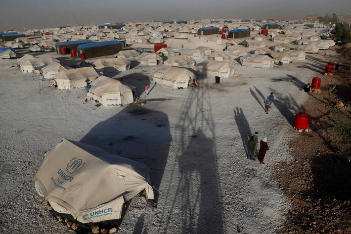 In kamp Ain Issa in het noordoosten van Syrië wonen veel gezinnen die vluchtten uit Raqqa.