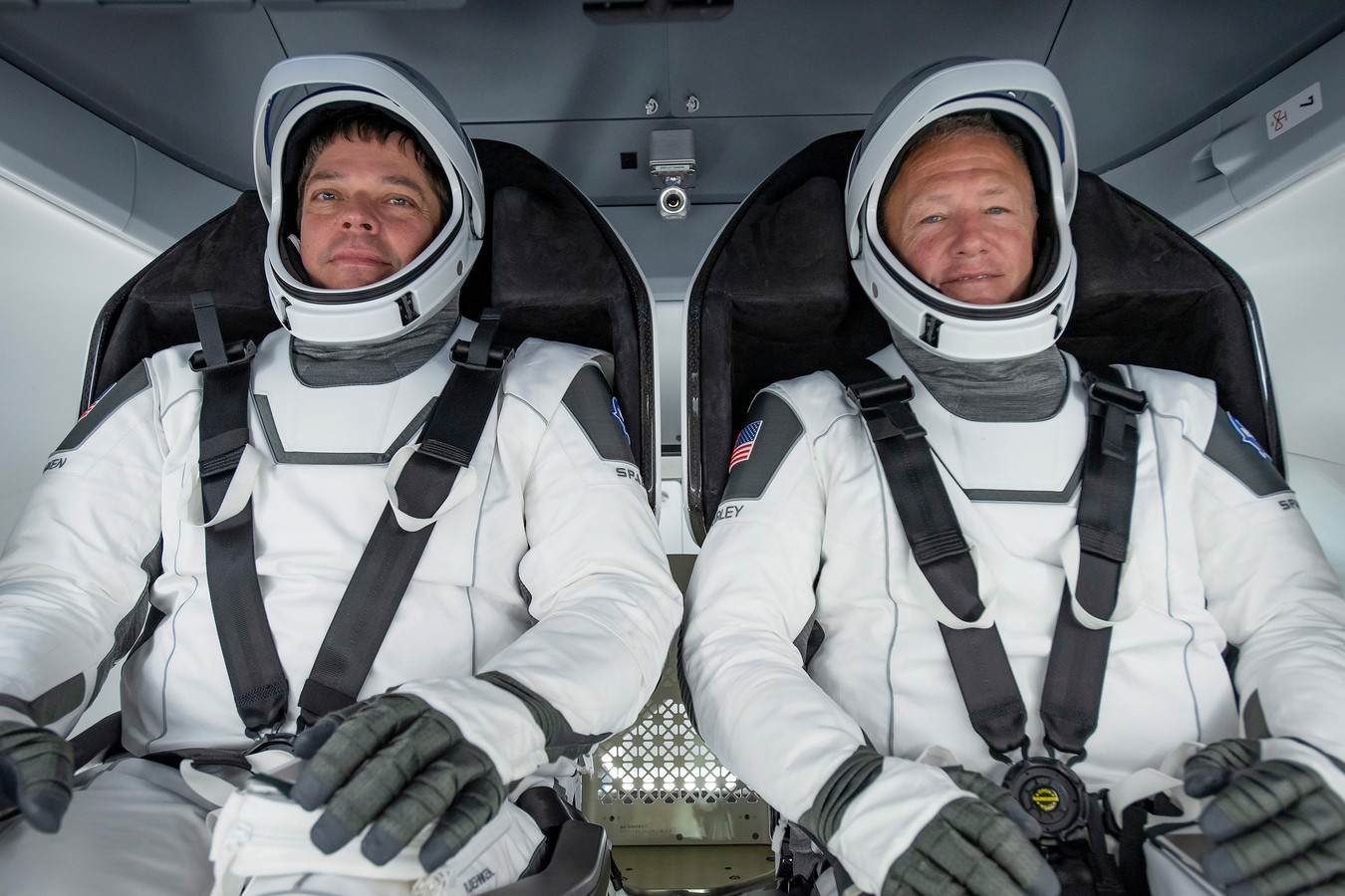 De astronauten Bob Behnken (links) and Douglas Hurley.
