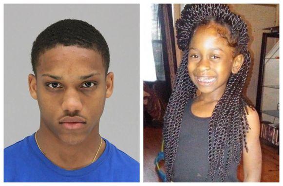 Rapper Tyrese Simmons (19), wiens artiestennaam 'Lul Reese' luidt.   Brandoniya Bennett (9) overleed aan de schotwonden.