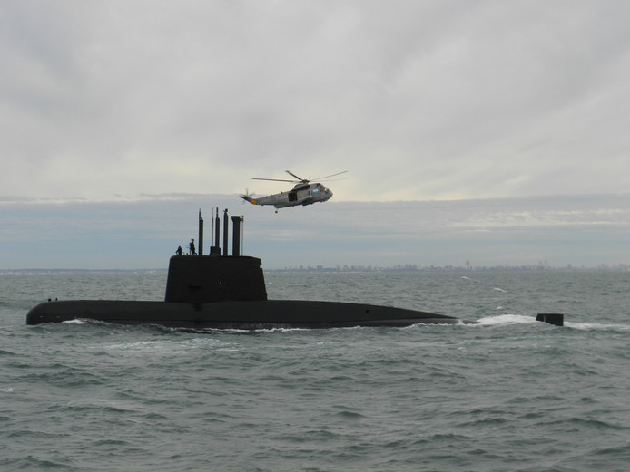 Een archieffoto van de vermiste onderzeeër ARA San Juan.