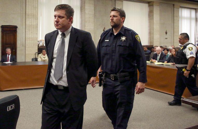 Jason Van Dyke, de politieman die vier jaar geleden de zwarte tiener Laquan McDonald doodschoot.
