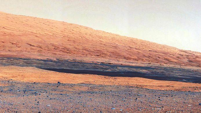 Mount Sharp, gefotografeerd door Curiosity.