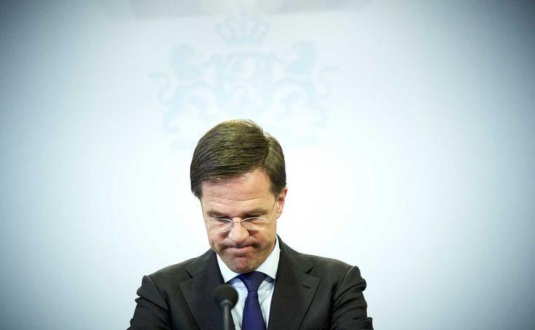 Dat premier Mark Rutte (foto) vorig jaar opeens de 'Dikke ik-mentaliteit' hekelde, was wat Van Tongeren betreft een losse flodder. Beeld anp