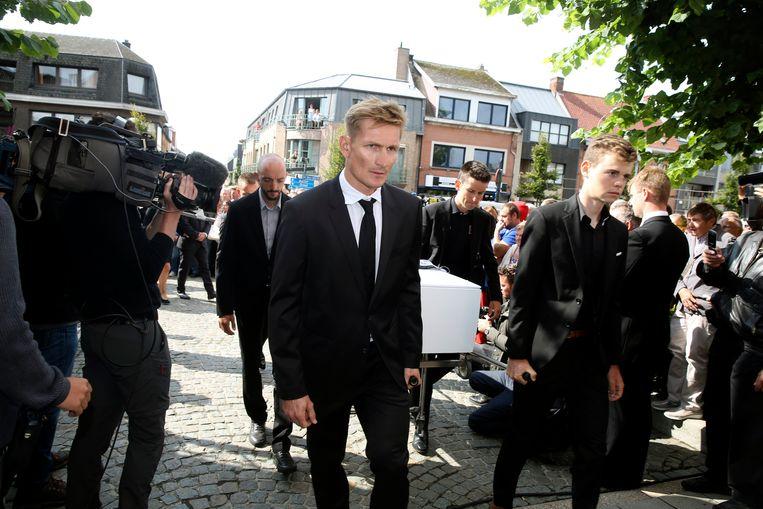 André Greipel droeg vandaag nog de kist van Bjorg Lambrecht.