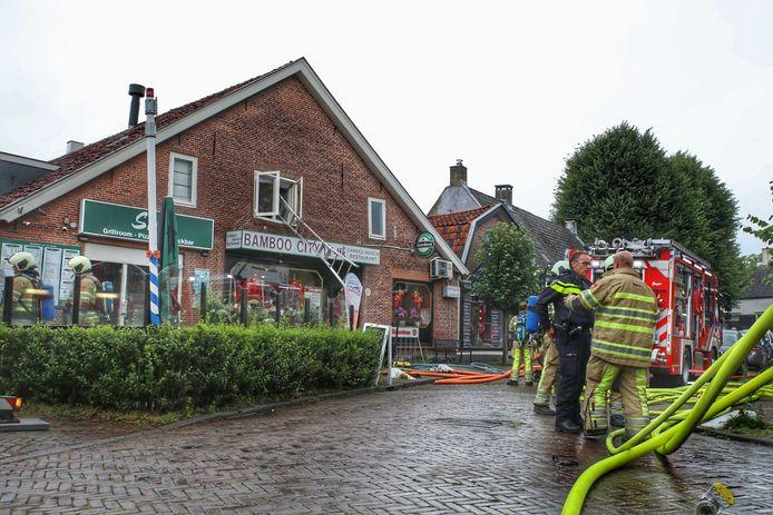 De brand bij de cafetaria in Amerongen was snel uit.
