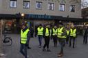 Demonstratie Gele Hesjes voor de Primark in Eindhoven.
