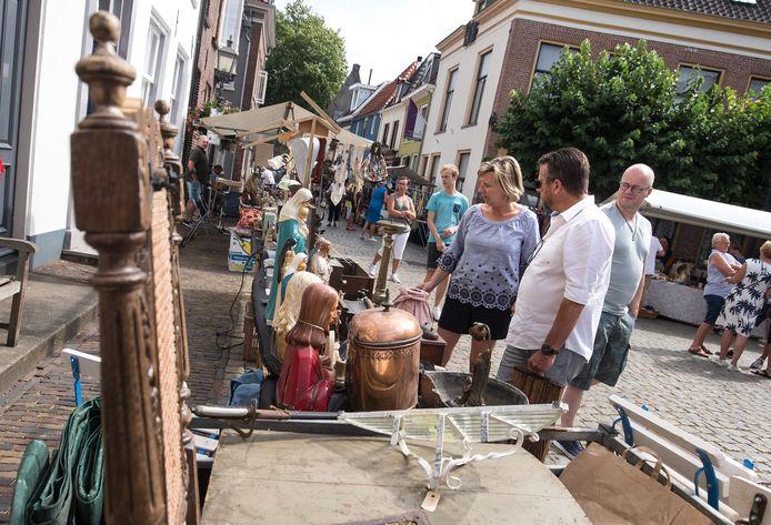 Beeld van een eerdere editie van de Montmartre-markt in Doesburg. Foto ter illustratie.