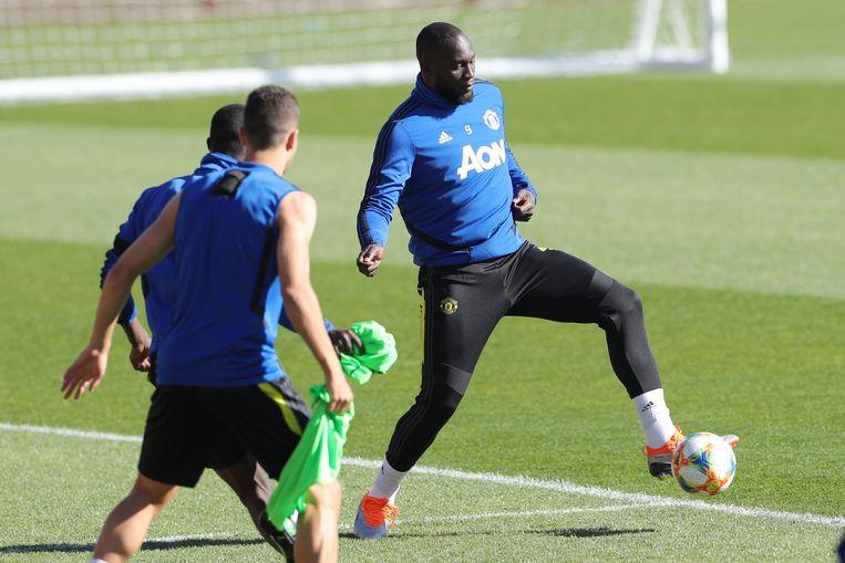 Lukaku op training.