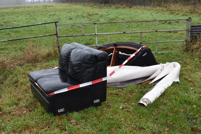 Bankstel gedumpt in Kerkwijk
