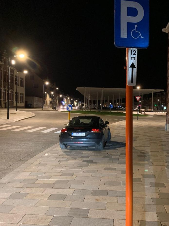 De auto van Lieven Latoir.