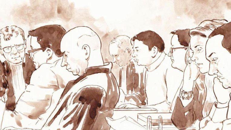 De verdachten in de rechtszaal. Beeld Aloys Oosterwijk