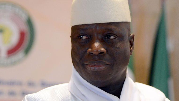 De Gambiaanse president Yahya Jammeh Beeld null