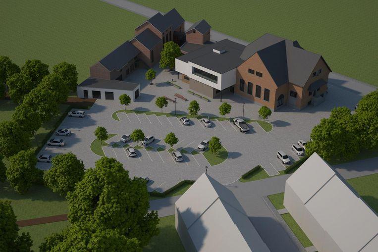Een simulatiebeeld van hoe woonwijk De Melkroos er zal uitzien.