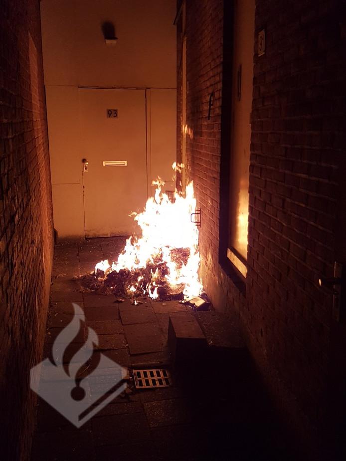 Het brandende afval