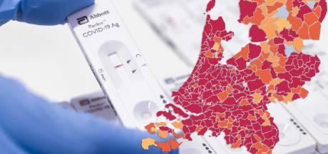CORONAKAART | Nijmegen en Montferland springen eruit: recordaantal positieve testen in één dag
