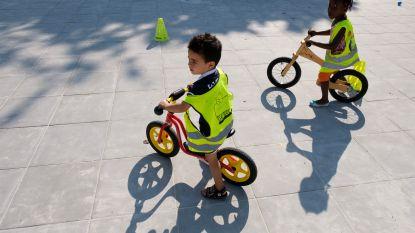 Workshop leert kleuters fietsen