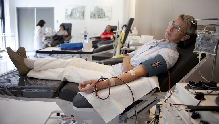 Bij de Sanquin Bloedbank in Amsterdam wordt er bloed gedoneerd. Beeld Amaury Miller