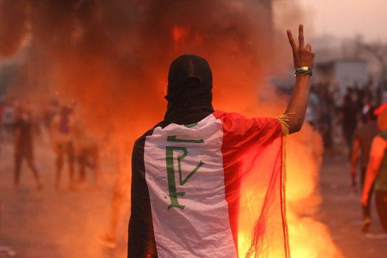 Protest in Irak loopt al sinds dinsdag. Beeld AFP