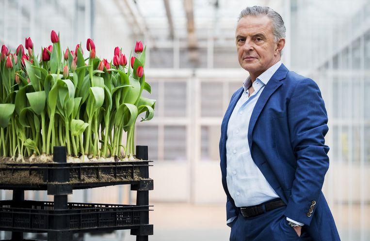 Acteur Huub Stapel op de set van de nieuwe Nederlandse dramaserie Zwarte Tulp. Beeld anp
