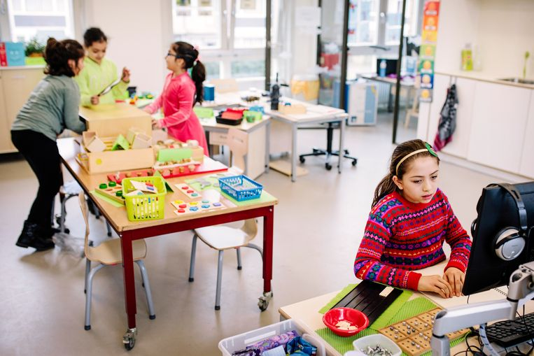 De nieuwe school van Visio in West. 'Er wordt hier echt rekening met je gehouden.' Beeld Marc Driessen