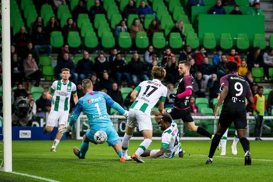 Ramselaar maakt de 0-1 namens FC Utrecht.