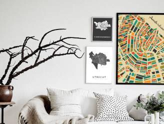Vangst van de dag: kunstige kaarten aan de muur