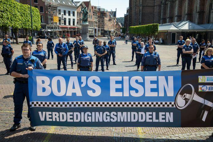 In onder meer Haarlem was er na het incident in IJmuiden een protest door de Buitengewoon Opsporingsambtenaren (BOA's).