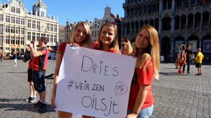 Aalsterse fans klaar voor ontvangst Rode Duivels: #Weirzenoilsjt op Grote Markt van Brussel